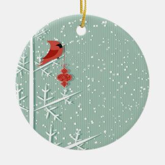 Ornamento cardinal rojo adorno