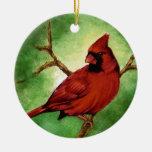 Ornamento cardinal rojo ornamento de navidad