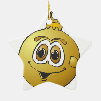 Ornamento Cartoon.png del navidad del oro Adorno De Cerámica En Forma De Estrella