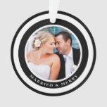Ornamento casado y feliz simplemente de la moda de