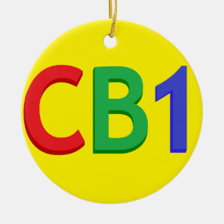 Ornamento CB1 Adorno Navideño Redondo De Cerámica