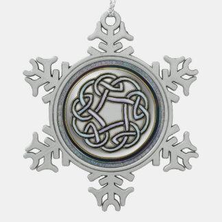 Ornamento céltico de plata del navidad del copo de adornos