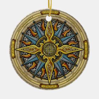 Ornamento céltico del compás ornamentos de navidad