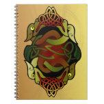 Ornamento céltico del dragón cuadernos