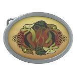 Ornamento céltico del dragón hebilla cinturón oval
