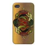 Ornamento céltico del dragón iPhone 4 carcasas