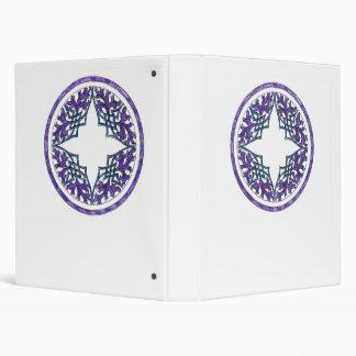 Ornamento céltico del ish del Victorian azul y púr