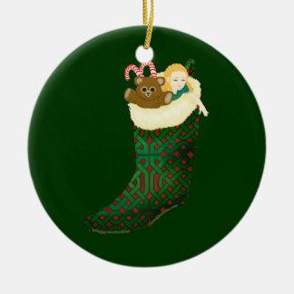 Ornamento céltico del navidad ornamento para arbol de navidad