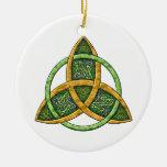 Ornamento céltico del nudo de la trinidad adorno de navidad