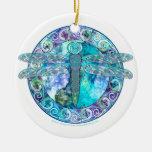 Ornamento céltico fresco de la libélula adorno de navidad
