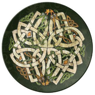 Ornamento céltico plato de cerámica