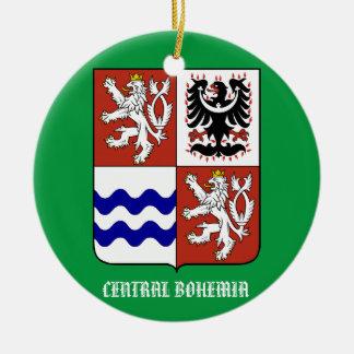 Ornamento central de Bohemia Adorno Navideño Redondo De Cerámica