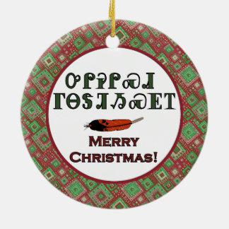 Ornamento cherokee de los saludos del día de fiest adorno de navidad