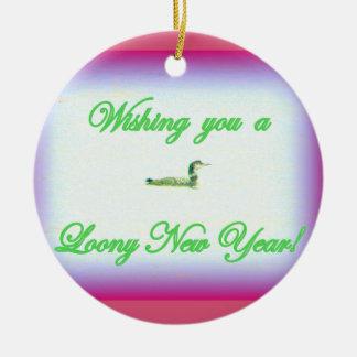ornamento chiflado de las Felices Navidad del Año Adornos