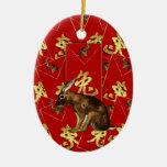 Ornamento chino del Año Nuevo - año de conejo/de l Ornatos