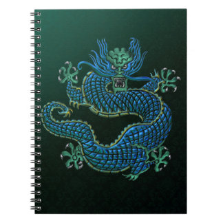 Ornamento chino del dragón cuaderno