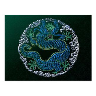 Ornamento chino del dragón postal