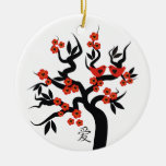 Ornamento chino del personalizado del símbolo del adorno redondo de cerámica