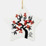 Ornamento chino del personalizado del símbolo del adorno de cerámica en forma de estrella