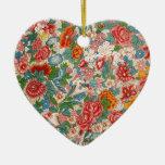 Ornamento chino floral del corazón adorno de reyes
