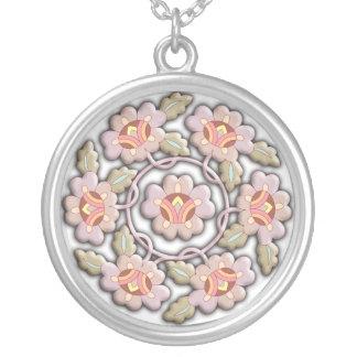 Ornamento chino floral hermoso colgante redondo