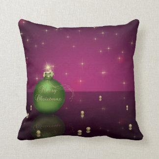 Ornamento chispeante del navidad - almohada cojín decorativo
