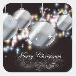 Ornamento chispeante fresco del navidad etiqueta