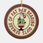 Ornamento chistoso de Santa Ornamento Para Reyes Magos