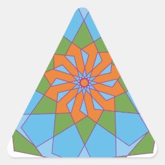 Ornamento circular 2 pegatina triangular