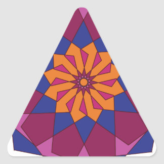 Ornamento circular 3 pegatina triangular