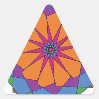 Ornamento circular 4 pegatina triangular