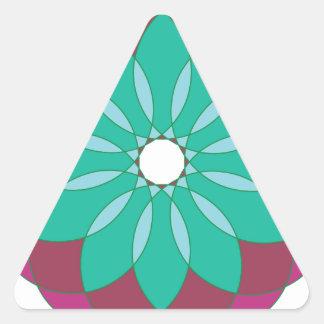 Ornamento circular 5 pegatina triangular