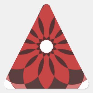 Ornamento circular 6 pegatina triangular