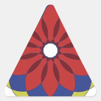 Ornamento circular 7 pegatina triangular