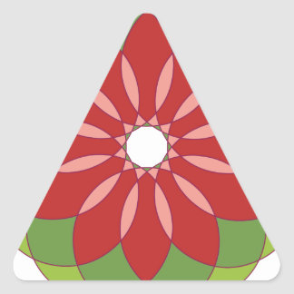Ornamento circular 8 pegatina triangular