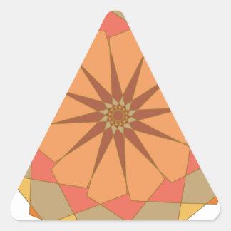 Ornamento circular pegatina triangular