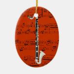 Ornamento - clarinete bajo - escoja su color adorno de navidad