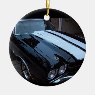 Ornamento clásico del coche del músculo adorno de navidad