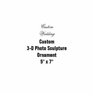 """Ornamento colgante 5"""" de la escultura de encargo adorno fotoescultura"""