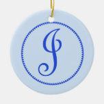 Ornamento/colgante colgantes de la letra J del mon Ornamento Para Reyes Magos