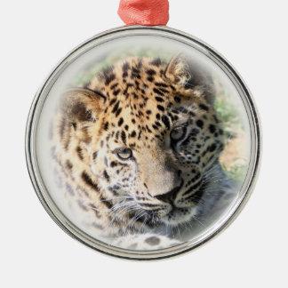 Ornamento colgante de la foto linda del bebé del adorno redondo plateado