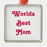 Ornamento colgante de la mejor medalla de la mamá  adorno
