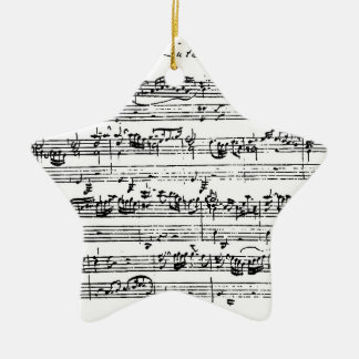 Ornamento colgante de la música de Bach Adorno Navideño De Cerámica En Forma De Estrella