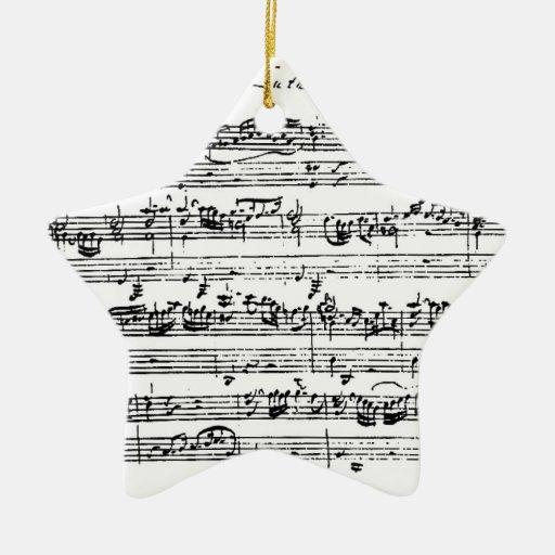 Ornamento colgante de la música de Bach Adorno De Cerámica En Forma De Estrella