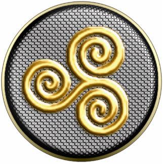 Ornamento colgante de oro de Triskele Adorno Fotoescultura
