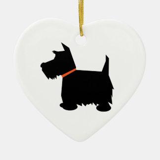 Ornamento colgante del corazón del perro de Terrie Adorno De Reyes