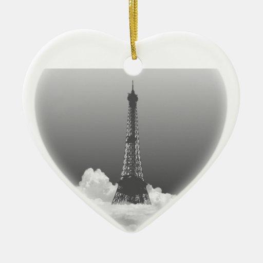 Ornamento colgante del corazón romántico de la adorno navideño de cerámica en forma de corazón