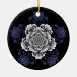 Ornamento color de rosa azul ornamentos para reyes magos