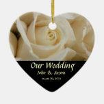 Ornamento color de rosa de marfil del boda del cor ornato