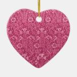 Ornamento color de rosa floral del vintage adorno de navidad